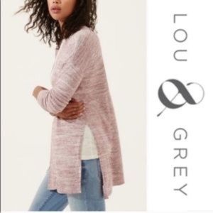Lou & Grey | Purple Open Front Cardigan